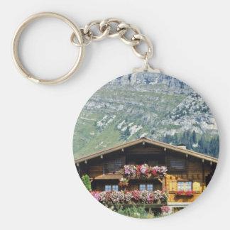 Chalet sobre Le Grand Bornand, montañas francesas, Llavero Personalizado