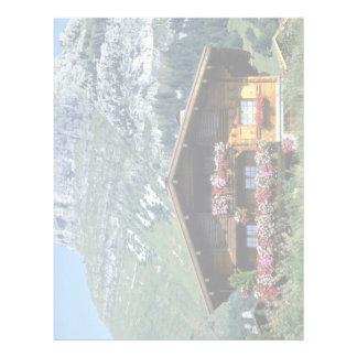 Chalet sobre Le Grand Bornand, montañas francesas, Membrete Personalizado