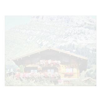 Chalet sobre Le Grand Bornand montañas francesas Membrete Personalizado