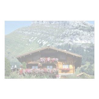 Chalet sobre Le Grand Bornand, montañas francesas, Papeleria De Diseño