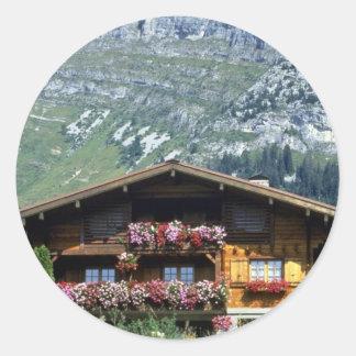 Chalet sobre Le Grand Bornand, montañas francesas, Etiqueta Redonda