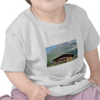 Chalet sobre Le Grand Bornand montañas francesas Camiseta