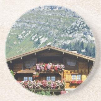 Chalet sobre Le Grand Bornand, montañas francesas, Posavasos Diseño