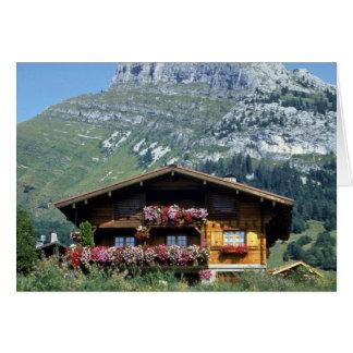 Chalet sobre Le Grand Bornand, montañas francesas, Felicitaciones