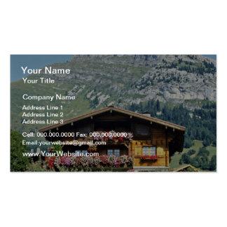 Chalet sobre Le Grand Bornand, montañas francesas, Plantillas De Tarjetas Personales