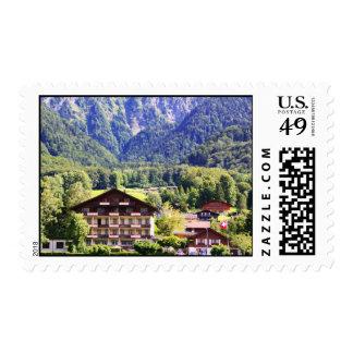 Chalet suizo estampilla