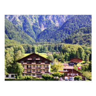 Chalet suizo postal