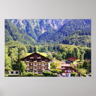 Chalet suizo póster