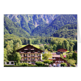Chalet suizo tarjeta de felicitación