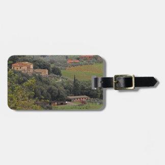 Chalet toscano etiqueta para maleta