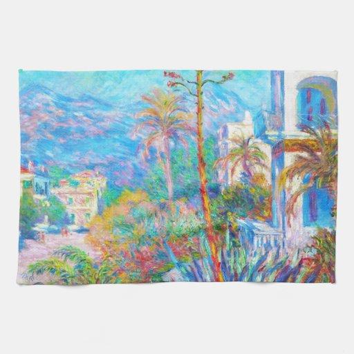 Chalets en Bordighera Claude Monet Toallas De Cocina