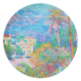 Chalets en Bordighera Claude Monet Plato De Cena