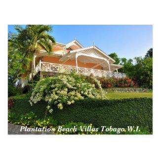 Chalets Trinidad y Tobago W.I. de la playa de la Tarjetas Postales