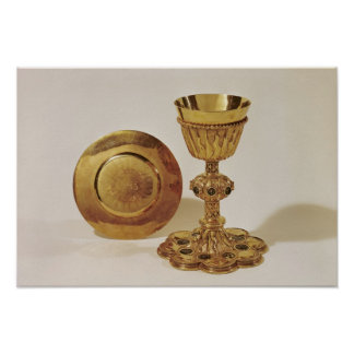 Chalice and paten poster