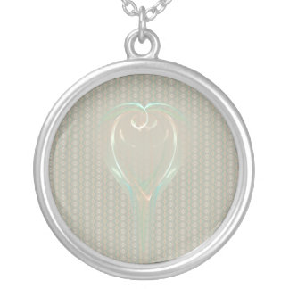 Chalice of Doves Round Pendant Necklace