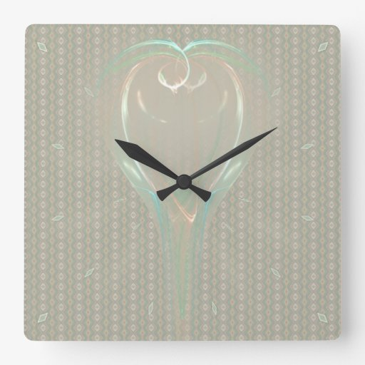 Chalice of Doves Square Wall Clocks