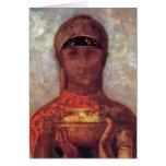 Chalice of Mystery - Spiritual Art by Odilon Redon Cards
