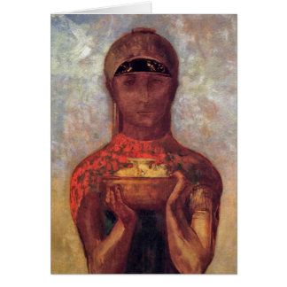 Chalice of Mystery - Spiritual Art by Odilon Redon Card