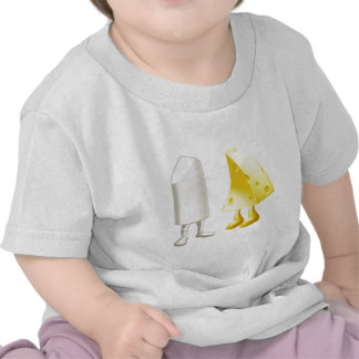 Chalk and cheese characters tee shirts