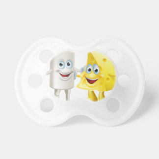 Chalk and cheese friends baby pacifiers