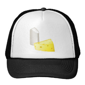 Chalk and cheese opposites concepts mesh hat