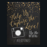 "Chalk and Glitter Wedding Hash Tag Sign<br><div class=""desc"">Chalk and Glitter Wedding Hash Tag Sign</div>"