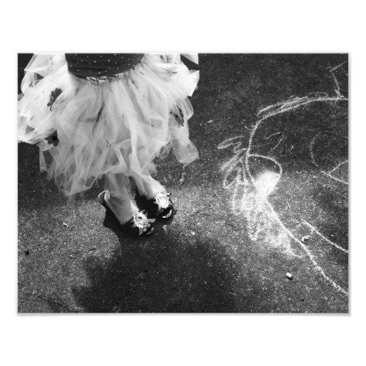 Chalk and tutus photo print