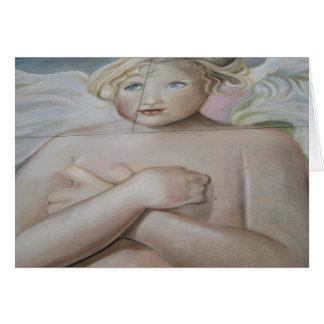 Chalk Angel--Horizontal--Blank Card