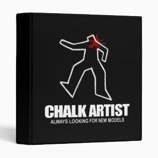 Chalk Artist 3 Ring Binder