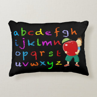 Chalk Board Alphabet Decorative Pillow