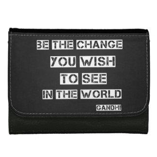 Chalk Board Be the Change Wallets