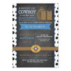 Chalk board Cowboy Baby Invitation