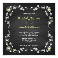 Chalk Board Daisy Bridal Shower Invitations