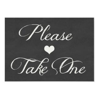 Chalk Board Hearts Wedding | Take One Card