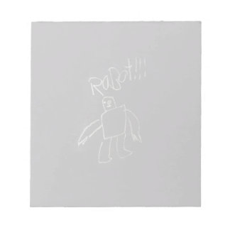 chalk board Robot Notepad