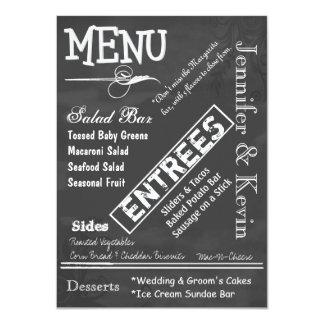 Chalk Board Typography Wedding Menu Card