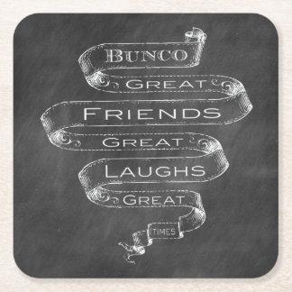 Chalk Bunco Coasters
