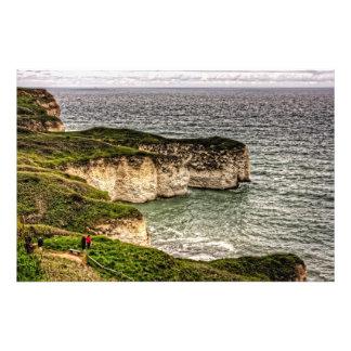 Chalk Cliffs at Flamborough Head Photo Print