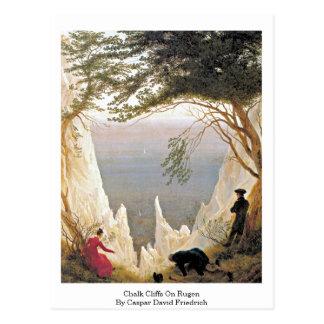 Chalk Cliffs On Rugen By Caspar David Friedrich Post Card