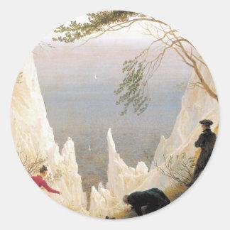Chalk Cliffs on Rugen Classic Round Sticker