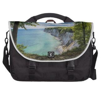 Chalk cliffs on the island Ruegen in Germany Laptop Computer Bag