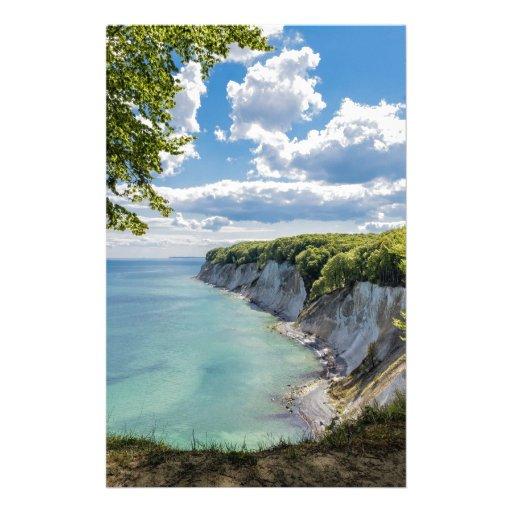 Chalk cliffs on the island Ruegen in Germany Stationery Design
