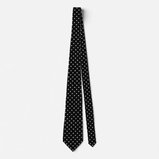 Chalk dot classic black and white pattern tie