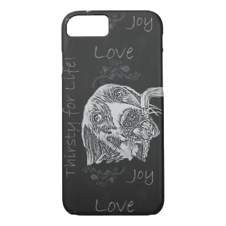 Chalk Drawing of Dog on Phone Case