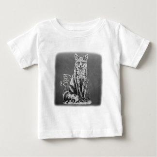 Chalk Drawing of Fox Animal Art on Chalkboard Baby T-Shirt