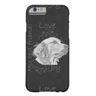 Chalk Drawing of Golden Retriever on Phone Case Barely There iPhone 6 Case