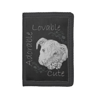 Chalk Drawing of Pitbull on Wallet