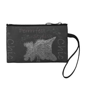 Chalk Drawing of Sleepy Cat Coin Wallet