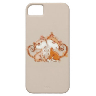 Chalk Drawing of Two Kittens iPhone SE/5/5s Case