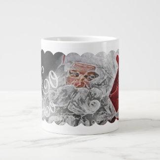 Chalk Drawn Santa Ho Ho Ho Holiday 20 Oz Large Ceramic Coffee Mug